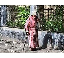Old Lady Photographic Print