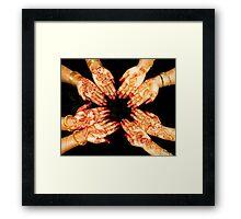 The Art Of Henna Body Painting  Framed Print