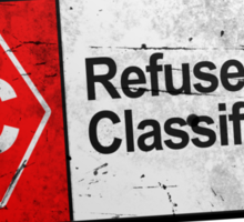 Refused Classification - The Shirt Sticker