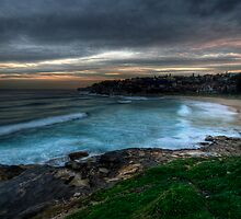 Dusk Surfers at Bronte by baddoggy