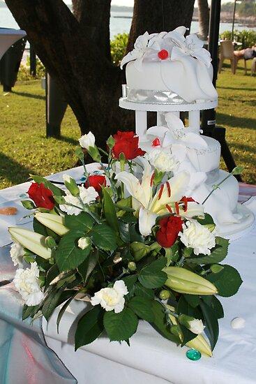 The Cake/ Flower arrangement by Sue Jaeschke