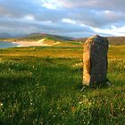 Scarista Stone at Sunset by Bondbloke