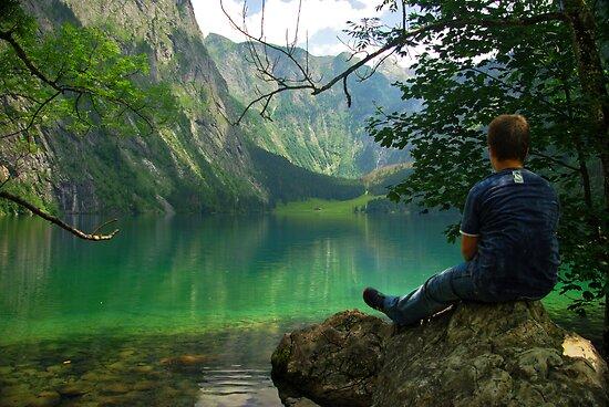 Resting on the rock by Béla Török