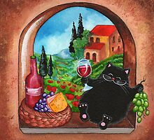 Picnic in Tuscany by Annya Kai