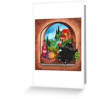 Picnic in Tuscany Greeting Card