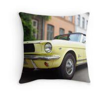 Blond Mustang Throw Pillow
