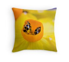 Ladybird Cup. Throw Pillow