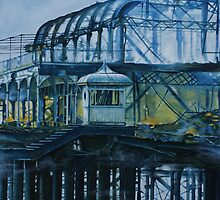 Brighton West pier - Lone survivor by Pauline Sharp