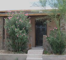 Oleander, palo verde, stone and stucco by Michael Cohen