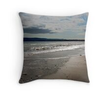 Loney beach walk Throw Pillow