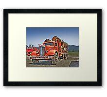 Old Log Truck Framed Print