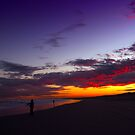 Fishing at the endless Stockton Beach, NSW by TheSpaniard