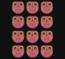 Pink Owls T-Shirt /  Pink Owls Sticker by Louise Parton