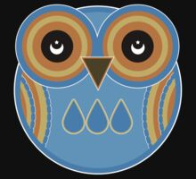 Blue Owl T-Shirt /  Blue Owl Sticker by Louise Parton