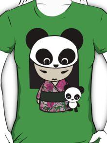Kokeshi Doll with Panda T-Shirt