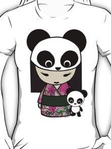 Kokeshi Doll with Panda T-Shirt