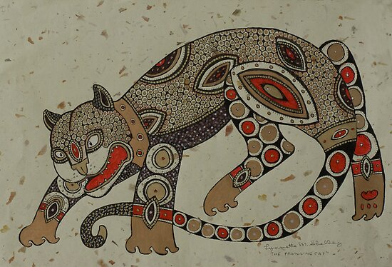 Prowling Cat by Lynnette Shelley