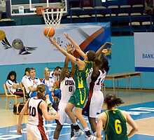 World University Games, Australia v USA Semi-Final by Sue Wells