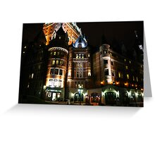 Fairmont Chateau Frontenac Greeting Card