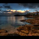 Shelley Beach Sunset by baddoggy