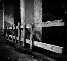 fence so alone in the middle of night by Victor Bezrukov