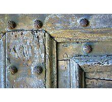 Old Door Detail Photographic Print