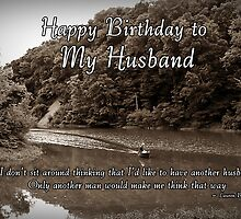 Husband Birthday by Greeting Cards by Tracy DeVore