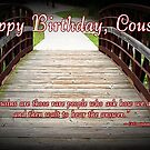 Cousin Birthday by Greeting Cards by Tracy DeVore