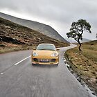 Speed Yellow Porsche 996 C4S, Glenshee, Scotland by justhypemedia