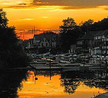 Boathouse Row In Yellow. Philadelphia, Pennsylvania by vadim19