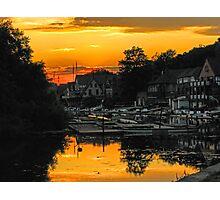 Boathouse Row In Yellow. Philadelphia, Pennsylvania Photographic Print