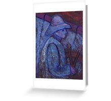 SAILOR IN ROUGH SEA Greeting Card