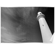 Split Point Lighthouse in the Black Poster