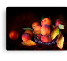 Eat A Peach Canvas Print