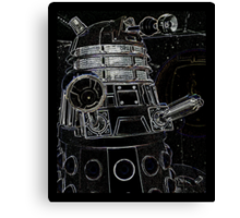 Black Dalek Canvas Print