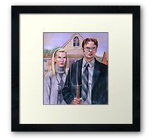 Cubicle Gothic Framed Print
