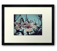 Old Timey Looking Flower Photos Framed Print