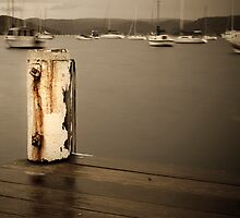 mooring post by angusimages