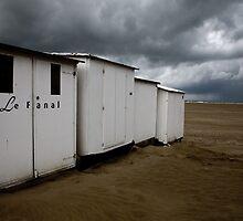 beach cabins by Karin Mueller