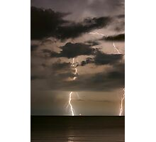 Coastal Lightning Photographic Print