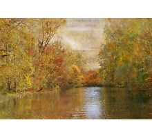 A Lazy River Ride in Fall Photographic Print