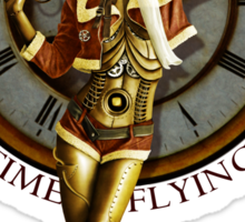 Time Flying Sticker