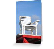 Life Guard Chair Greeting Card