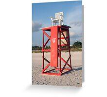 Lifeguard Chair Greeting Card