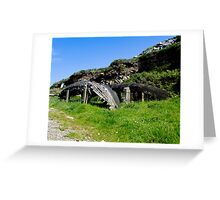 A derelict Currach in Co. Kerry, Ireland Greeting Card