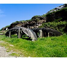 A derelict Currach in Co. Kerry, Ireland Photographic Print
