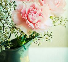 Pink Carnations by Colleen Farrell