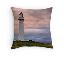 Split Point Lighthouse Throw Pillow