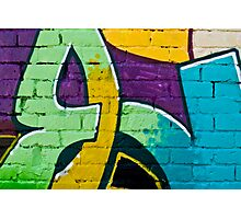 Abstract graffiti detail on the brick wall Photographic Print