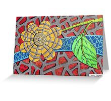 266 - MACHO FLOWER - DAVE EDWARDS - COLOURED PENCILS & FINELINERS - 2009 Greeting Card